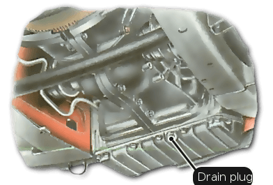 The old Renault automatic transmission has a separate fluid supply.
