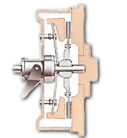 The release bearing has depressed the diaphragm spring