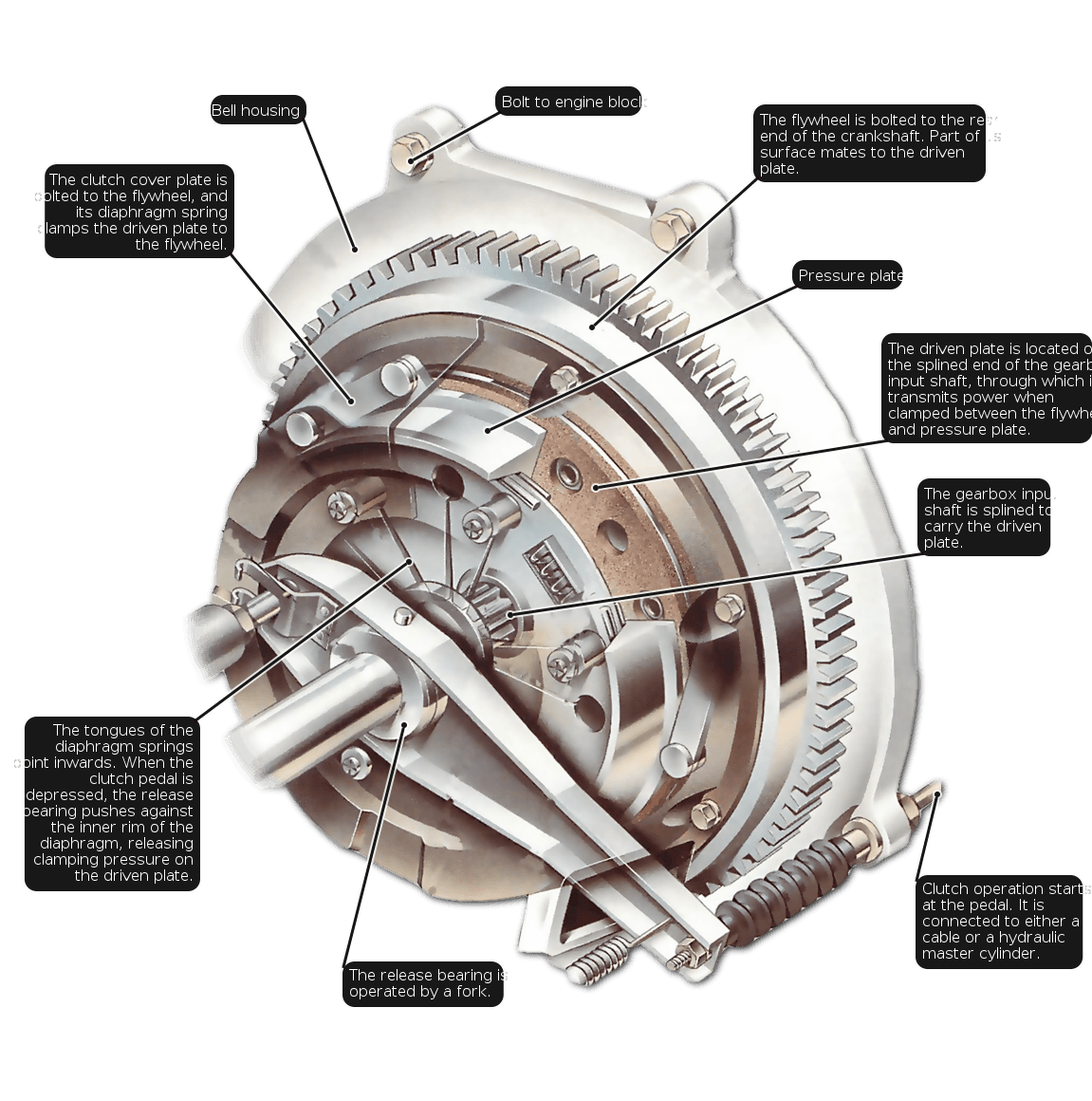 What Is A Clutch In A Car >> Car Clutch Works The First Stage In The Transmission Of A