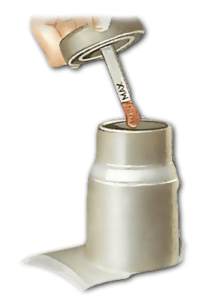If the reservoir has a dipstick on the cap, clean the dipstick, replace it and then remove again to read the level