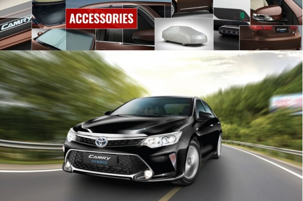 2017 Toyota Camry Hybrid official accessories detailed