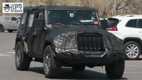 New generation Jeep Wrangler spied testing